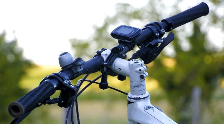 Fahrrad Computer auf einem Mountainbike