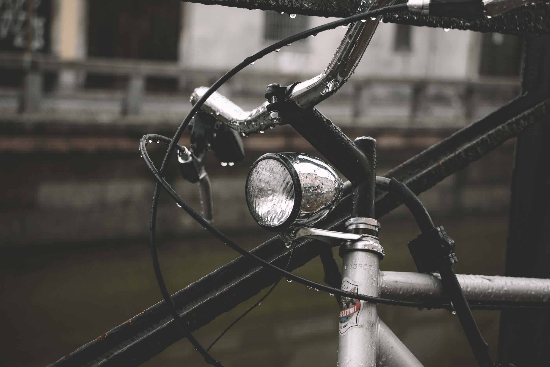 Fahrradlicht am Vorderrad