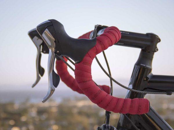 Nahaufnahme Rennradlenker