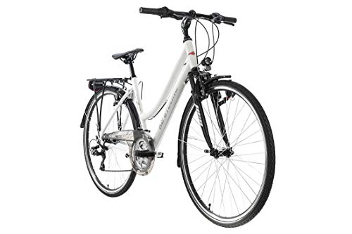 KS Cycling Trekkingrad Damen 28'' Canterbury weiß matt Alu-Rahmen RH48cm Tourenlenker