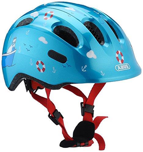 ABUS Smiley 2.0 Kinderhelm - Robuster Fahrradhelm für Mädchen und Jungs - Blau mit maritimen Muster, Größe S
