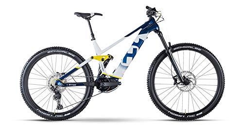 Husqvarna Mountain Cross 5 Shimano Steps Fullsuspension Elektro Mountain Bike 2021 (40 cm, Blue/White/Yellow)