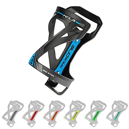 P4B | Flaschenhalter für Ihr Fahrrad in Black/Blue - KELA | Flaschenhalter Fahrrad blau | 3 Verschiedene Wege um die Flasche einzufügen | Sehr Robustes Material | Mit Befestigungsschrauben
