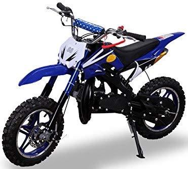 Kinder Mini Crossbike Delta 49 cc 2-takt Dirt Bike Dirtbike Pocket Cross (Blau)