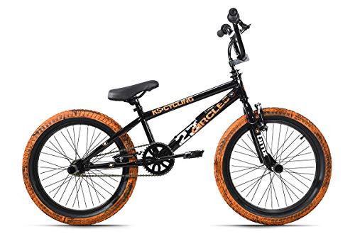 KS Cycling BMX Freestyle 20'' Circles schwarz-orange mit Muddy-Reifen