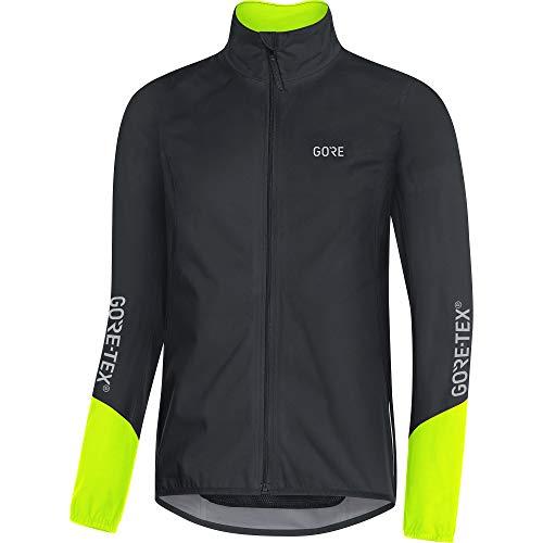 GORE Wear C5 Herren Fahrrad-Jacke GORE-TEX, S, Schwarz/Neon-Gelb