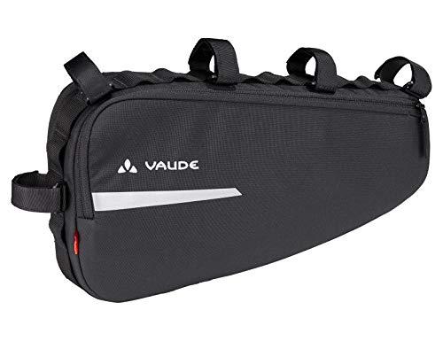 VAUDE 14304 Frame Bag, Radpacktasche für das Rahmendreieck Riemen, 36 cm, Black