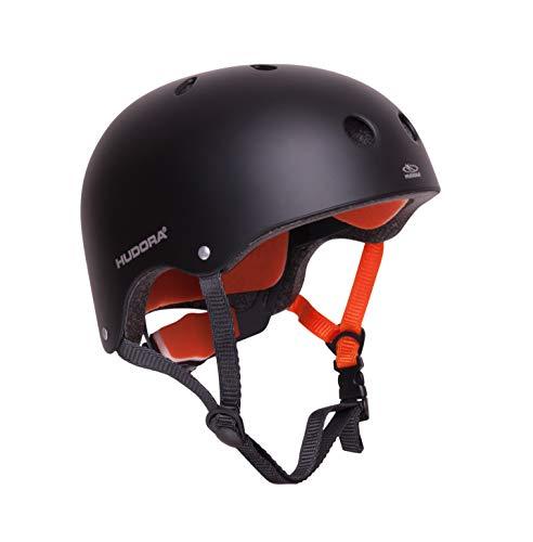 HUDORA 84103 - Skateboard-Helm, Scooter-Helm anthrazit, Gr. 51-55, Skate Helm, Fahrrad-Helm
