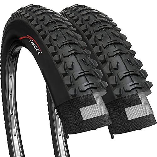 Fincci Paar 26 x 1,95 Zoll 53-559 Faltbar Reifen für MTB Mountain Hybrid Bike Fahrrad (2er Pack)