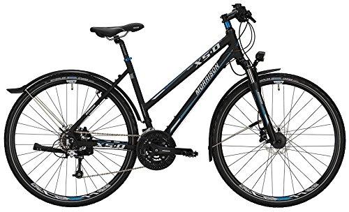 Crossbike Morrison X 5.0 Damen 28' 27-G XT/Alivio hydr. Scheibenbremsen, Rahmenhöhen:S(45);Farben:Matt Black