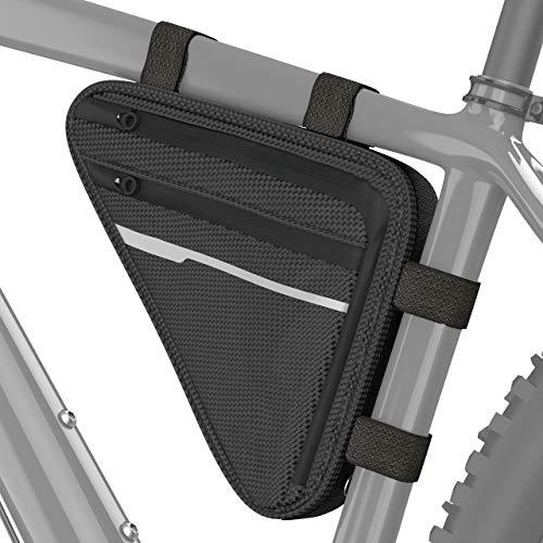 Velmia Fahrrad Dreiecktasche Wasserdicht - Fahrrad Rahmentasche, Triangeltasche ideal für Fahrradschloss, Werkzeug, Regenjacke - Fahrradtasche Rahmen