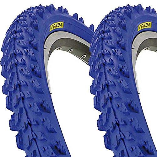 2 x Kenda K829 Fahrrad Reifen 26 x 1,95   50-559 blau SET NEU blue tire BIKE